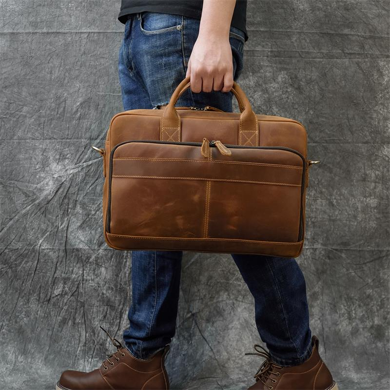 Sac Cartable Homme Style Vintage