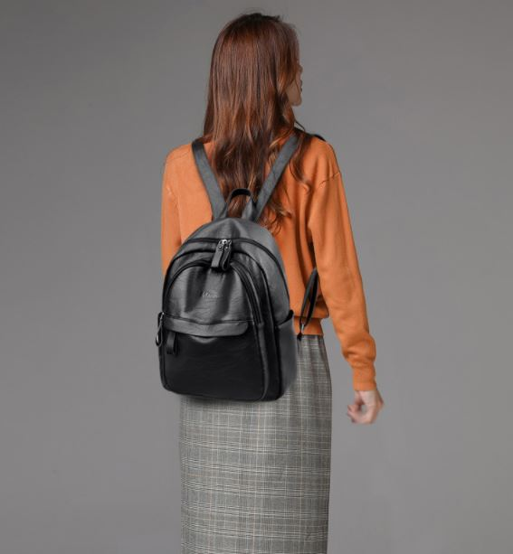 Sac À Dos Femme Style Vintage En Cuir Pu