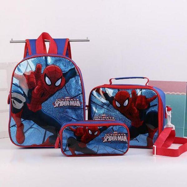 Ensemble 3 Pièces Sac D'École Spider-Man